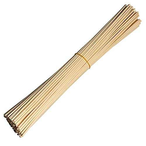 """Simoutal Reed Diffuser Sticks 100 Pieces,Wood Rattan Reed Sticks,Replacement Refill Sticks,Essential Oil Aroma Diffuser Sticks (8"""" x 3mm,Natural)"""