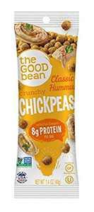 The Good Bean Chickpeas Snacks Grab & Go, Classic Hummus, 1.4 Ounce, 10 Count
