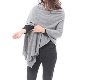 Bruceriver Women's Wool Blended Versatile Multi Style Long Knit Scarf Size M/L (Light Gray)