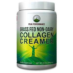 Collagen Creamer for Coffee - Grass Fed Non Dairy Best Tasting Keto and Paleo Friendly Organic Coconut MCT + Collagen Creamer Powder by Peak Performance. Vital Ketogenic Collagen Peptide Proteins