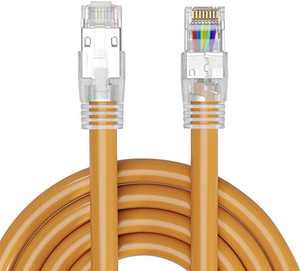 Cat 8 Ethernet Cable 16FT 23AWG 40Gbps 2000MHz SSTP Shielded Internet Patch Cord Faster Than Cat7 Cat6 High Speed Cable for Gaming Home Router Modem(16 feet (5M))