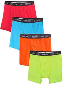 Bolter Men's Nylon Spandex Performance Boxer Briefs (X-Large, Neon Brights)