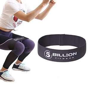5BILLION Fabric Resistance Bands Hip Exercise Bands - for Booty, Thigh & Glutes - Soft & Non-Slip Design Loop Set (Gray-Large)