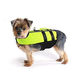 Namsan Dog Life Jacket Portable Inflatable Dog Life Vest Adjustable Swimming Suit, Reflective Safety Preserver for Dogs, Small