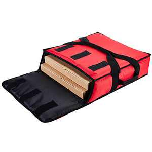 """YOPRAL Insulated Pizza Bag Thermal Pizza & Food Delivery Bags Commercial Professional Warmer Carrier Pizza Boxes Moisture Free for 2-16"""" or 2-18""""(Red),"""