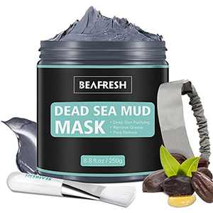Natural Dead Sea Mud Mask - Headband & Brush Included For Face and Body Cleansing Relaxing Detox Treatment Reduce Pores Purifying Peel of Face Mask for Acne Blackheads Clay Mask Face Masks Skincare