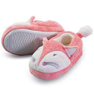 Boy's Cute Lovely Cartoom Fox House Cartoon Slippers with Hard Sole Size Toddler 10 US Fox