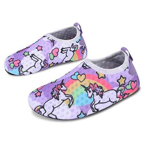 L-RUN Kids Swim Shoes Summer Beach Shoes for Pool Sand Yoga Surfing Horse 8-8.5=EU24-25