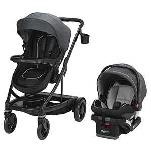 Graco Uno2Duo Travel System   Includes UNO2DUO Stroller and SnugRide SnugLock35 Infant Car Seat, Goes from Single to Double Stroller, Reece