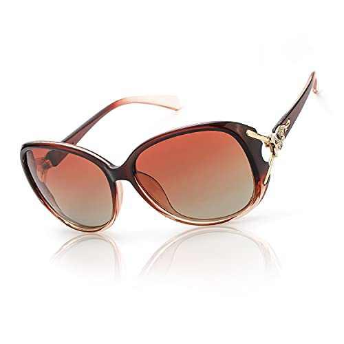 FIMILU Classic Oversized Sunglasses for Women Polarized 100% UV400 Protection Lenses Ladies Fashion Retro HD Sun Glasses