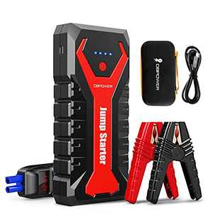 DBPOWER 2000 Amp 12-Volt Portable Car Jump Starter (up to 8.0L Gas/6.5L Diesel Engines) 20800mAh Auto Lithium Ion Battery Booster with Quick Charge, Type-C Port, and LED Flashlight
