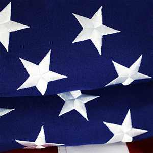 G128 – American Flag | 4x6 feet | Heavy Duty Spun Polyester 220GSM – Embroidered Stars, Sewn Stripes, Tough, Durable, Indoor/Outdoor, Vibrant Colors, Brass Grommets, Premium US USA Flag