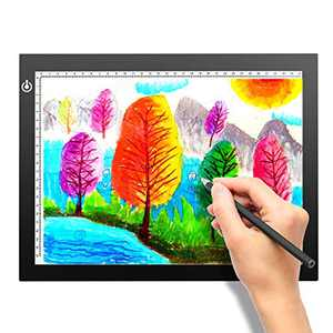 A4 Portable LED Light Box Trace, LITENERGY Light Pad USB Power LED Artcraft Tracing Light Table for Artists,Drawing, Sketching, Animation