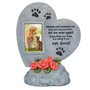 PETAFLOP Pet Memorial Stones Dog Cat Grave Marker Headstone Loss of Pet Keepsake