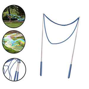 ZMunited Giant Bubble Wands for Kids Adults Making Big Bubbles Best Outdoor Summer Toy for Bubble Party Favors Telescopic Design Stainless Steel Made Easy Carrying Blue
