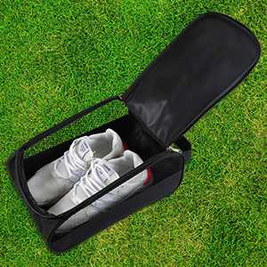 Outdoor Golf Shoes Bags Travel Shoes Bags Zippered Sport Shoes Bag (Black)