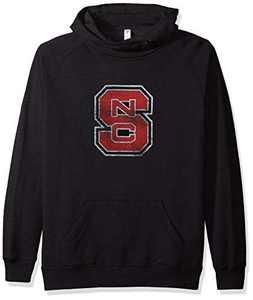 Ouray Sportswear NCAA North Carolina State Wolfpack Women's Asym Redux Hood, Charcoal Heather, Medium