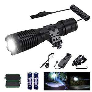 VASTFIRE Zoomable AR Flashlight 1200 Lumen 1 Mode 150 Yard Light with Pressure Switch for Hunting Ducks, Pheasants, and Deer