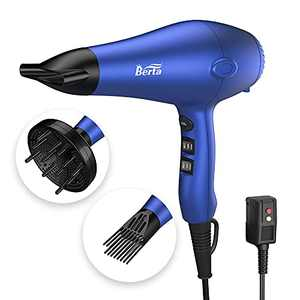 Wazor Lightweight Hair Dryer with Diffuser, Negative Ionic Professional 1875W Blow Dryer with 2 Speed 3 Heat Settings Cool Shot Purple