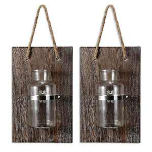 Mason Jars-Rustic Wall Decor-Home Decor-Vintage Decorative Wall Sconces for Artificial Plant or Anything (2, 12.8X6.8)