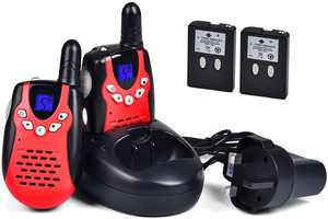 Upgrow Walkie Talkies 8 Channel 2 Way Radio Kids Toys Wireless 0.5W PMR446 Long Distance Range Walkie Talkie for Field Survival Biking and Hiking (Red)