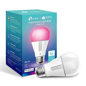 Kasa Smart Bulb, Full Color Changing Dimmable WiFi LED Light Bulb Compatible with Alexa and Google Home, A19, 9.5W 850 Lumens,2.4Ghz only, No Hub Required 1-Pack(KL130)