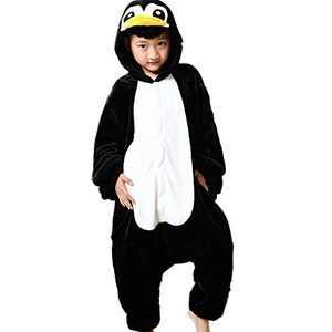 Kids Animal Onesie Pajamas Costume Cosplay for Boys Girls Child Penguin M