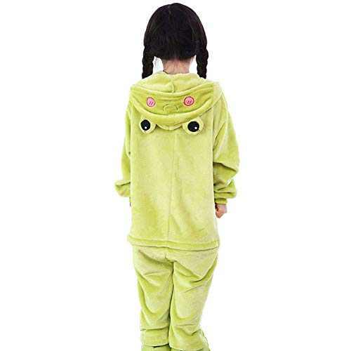 Kids Animal Onesie Pajamas Costume Cosplay for Boys Girls Child Frog XL