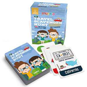 merka Educational Flash Cards Roadtrip Games Kids Flashcards Travel Scavenger Hunt Set Objects to find on Road License Plates Learning and Educational Toys for Kids and Toddlers