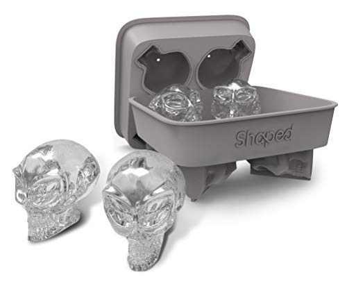 Shaped 3D Alien Skull Ice Mold, Super Flexible Silicone Ice Cube Mold, Makes Four Giant Alien Skulls (Alien Skull - Pack of 1)