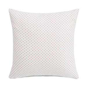 """SUNOOMY Soft Handmade Spots Dots Square Cotton Throw Pillow Cover Cushion Case,Decorative for Sofa Couch Bed Chair,Soft Pink&Cream White,20""""x20""""(50cm)"""