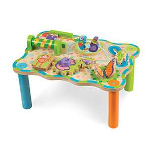 Melissa & Doug First Play Children's Jungle Wooden Activity Table for Toddlers