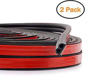 JMgist Updated Total 32.8 Ft Automotive Seal Strip Rubber Edge Weatherstrip for Car Window Door Protector Soundproofing Engine Cover Trim B Shape(2 Pack)