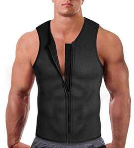 Eleady Men's Sauna Sweat Suits Weight Loss Waist Trainer Vest (Grey, 2XL)