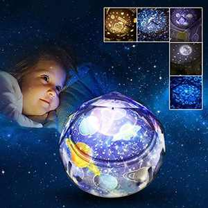 Gifts for 2-8 Year Old Girls Joy-Jam Star Projector Night Light for Kids Boys Toys Universe Rotating Baby Light Projector for Nursery Home Decoration Christmas Birthday Gifts 5 Films UK-XKD-1