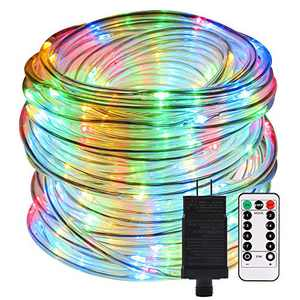 ECOWHO LED Rope Lights Outdoor, 72ft 336 LED 8 Modes Extendable Waterproof Indoor Rope String Lights Plug in ETL Listed for Bedroom Patio Christmas Tree Garden Party Decor (Only Multi Color)