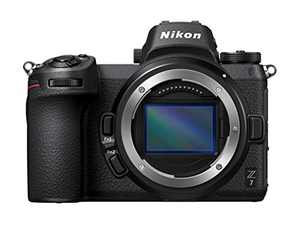 Nikon Z7 Full-Frame Mirrorless Interchangeable Lens Camera with 45.7MP Resolution, Body, Black, 1591