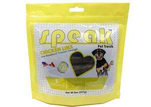 Speak Dog Treats Chicken Linx, Natural Gluten Free Sausage Training Treats with Limited Ingredients, 8 Ounces