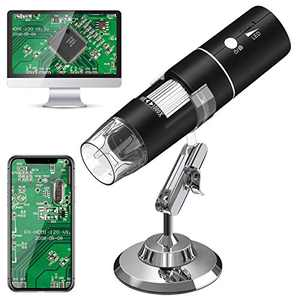 Wireless Digital Microscope VITCOCO 1080P HD 2MP 8 LED USB Microscope, 50X to 1000X WiFi Zoom Magnification Handheld Endoscope Compatible with Android and iOS Smartphone or Tablet, Windows Mac