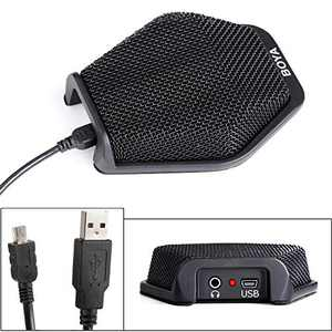 BOYA USB Conference Condenser Microphone, Office Laptop PC Computer Microphone for Windows Mac Dictation, Recording, YouTube, Skype, Conference Call
