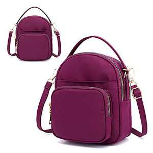 Badiya Cell Phone Bag for Women Small Crossbody Bags Nylon Mini Shoulder Bag