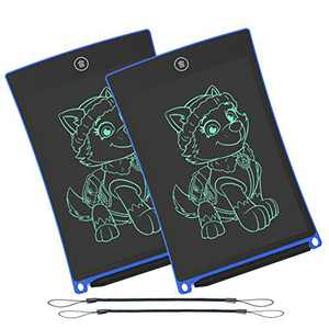 WOBEECO LCD Writing Tablet, 8.5 Inch Electronic Writing &Drawing Board Doodle Board with Lanyard for Kids and Adults at Home, School and Office(Blue)