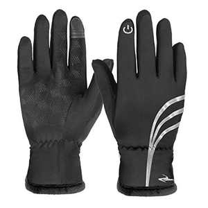 Winter Gloves for Women Men Touch Screen Gloves Warm Thermal Gloves Running Driving Riding Cycling Outdoor Sports Cold Weather Gloves,Black S