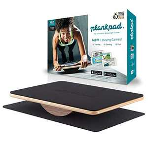 Plankpad PRO - Full Body Fitness and Ab-Trainer with Training App for iOS and Android - Interactive Balance Board from Shark Tank Germany