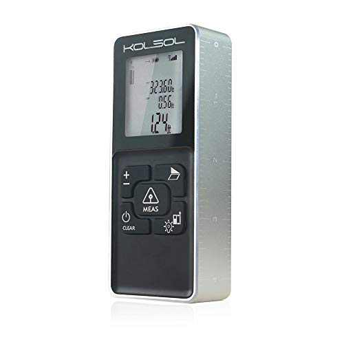Laser Distance Measure 100M//328ft, KOLSOL K100 Metal Material Laser Tape Measure with Backlight LCD