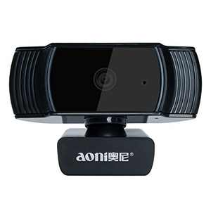 Automatic Focus Webcam Full HD1080P Widescreen, Lychee Auto Focus Camera for TV Desktop Laptop Video Calling & Recording Webcam Camera (Black)