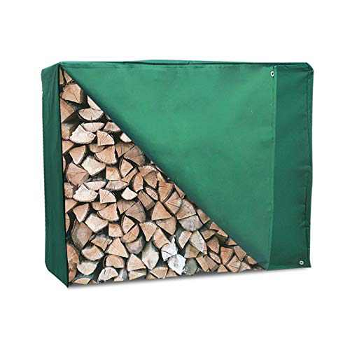 Firewood Rack Cover, Outdoor Log Rack Cover 4 Feet, Heavy Duty Waterproof Log Storage Rack Cover, Dustproof All-weather Protective Rectangular Wood Storage Carriers Cover, Green, 48'' x 24'' x 42''