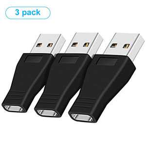 pop-tech 3 Pack USB C Female to USB Male Adapter, USB 3.1 Type C Female to USB 3.0 Male Converter Support Data Sync & Charging