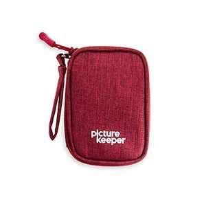 Picture Keeper USB Flash Drive Case (5 -Capacity), Carrying Bag for USB Flash Drives, SD Cards, USB Cables and Other Small Accessories, USB Holder/Travel Case, iDiskk/Photo Stick/Sunany- (Red)