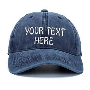 Custom Name Text Word Embroidered Dad Hat. Unstructured Adjustable Metal Buckle